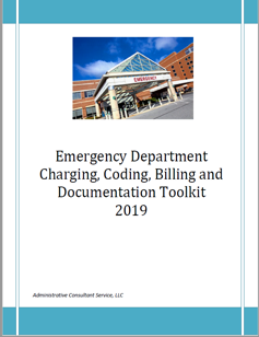 emergency department charging, coding, billing and documentation toolkit